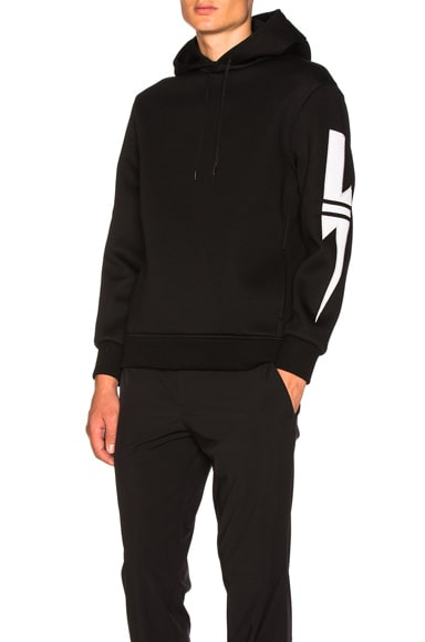 Striped Bolt Patch Hoodie