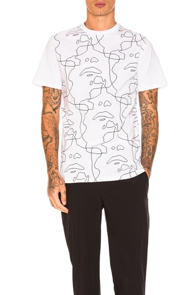 All Over Line Graphic Tee