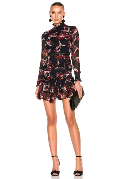 French Floral Mini Dress