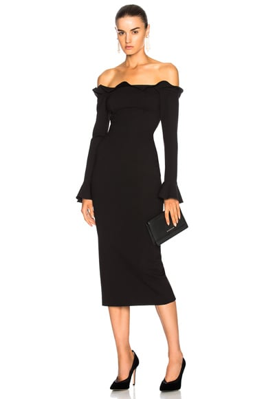 Ponti Off Shoulder Dress