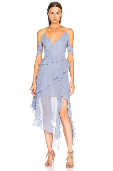 Asymmetric Frill Dress