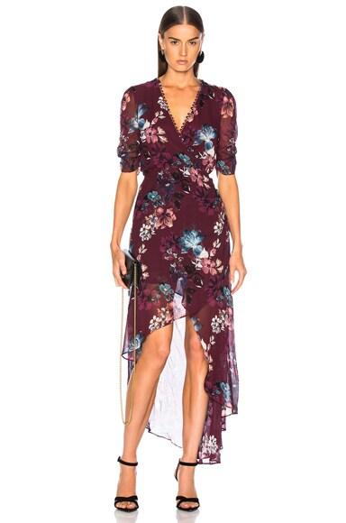 Floral Wrap Drape Dress