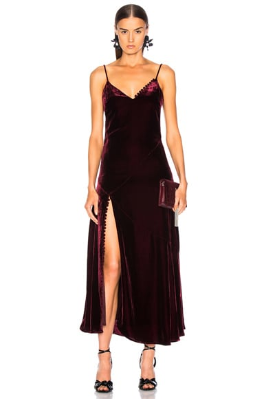 2b6aaf838c Silk Velvet Slip Panel Dress Silk Velvet Slip Panel Dress. NICHOLAS