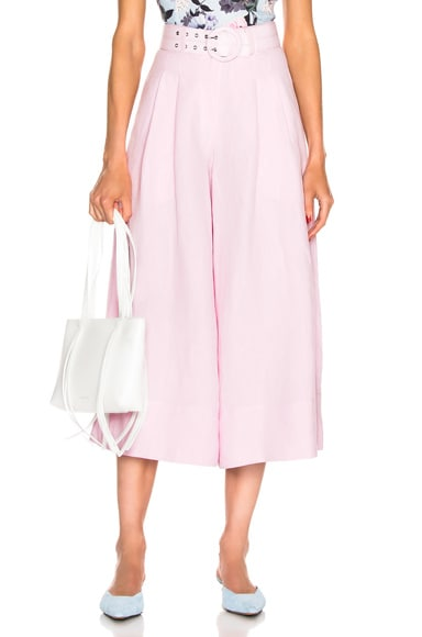 Belted Wide Leg Pant