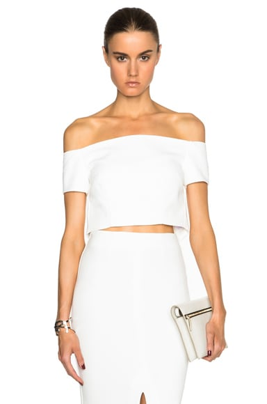 Double Bonded Off the Shoulder Cropped Top