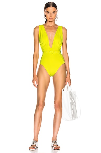 cd004776ad Plunge Ruched Swimsuit Plunge Ruched Swimsuit. NICHOLAS