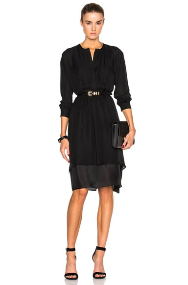Silk Tuxedo Dress