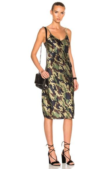 Mid Cami Dress with Velvet Straps