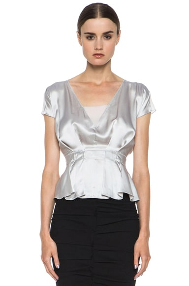 Silk Wrap Top