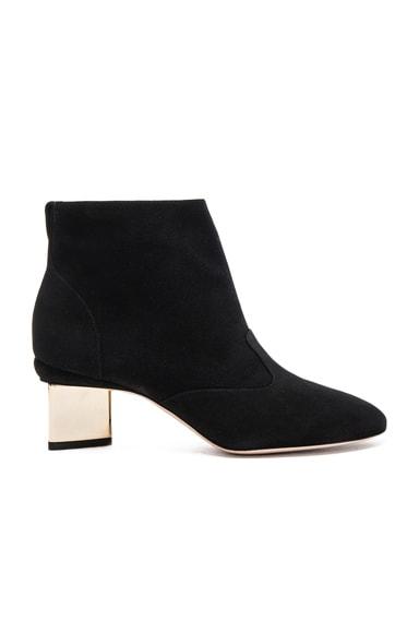 Suede Prism Ankle Booties in Black