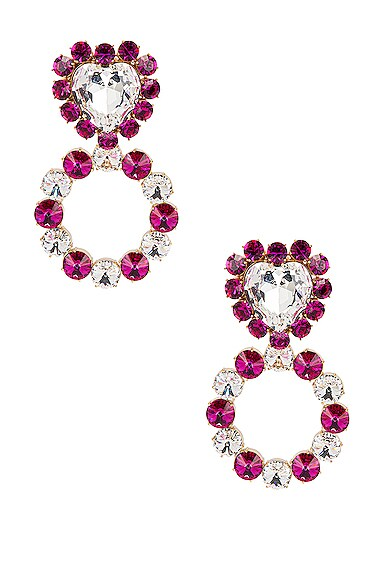 Queen of Hearts Crystal Earrings