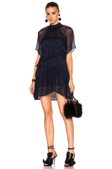 Sheer Lace Mini Dress