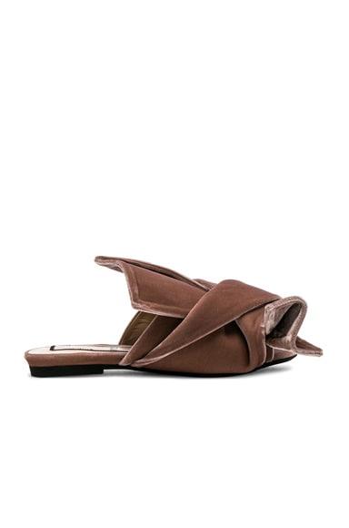 Velvet Bow Slides