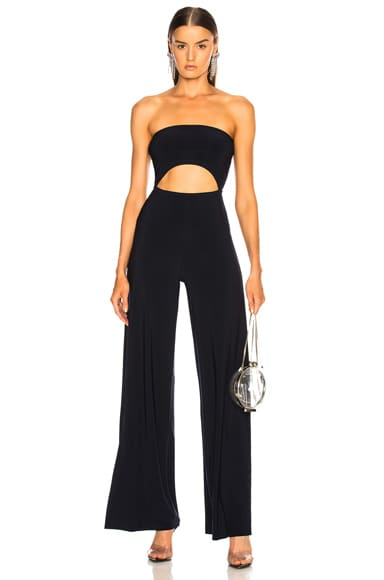 for FWRD Strapless Cut Out Jumpsuit