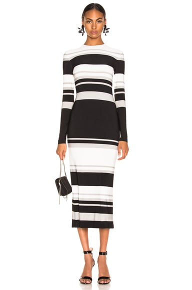 Long Sleeve Crew Neck Gown