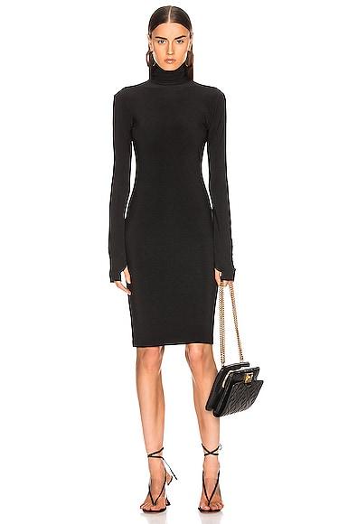 Slim Fit Turtleneck Dress