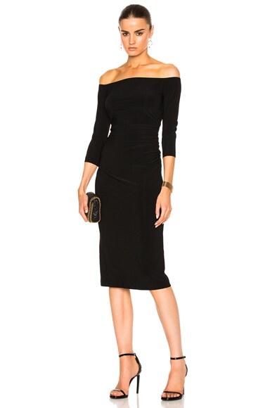 Off Shoulder Shirred Waist Dress