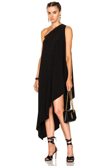 One Shoulder Diagonal Dress