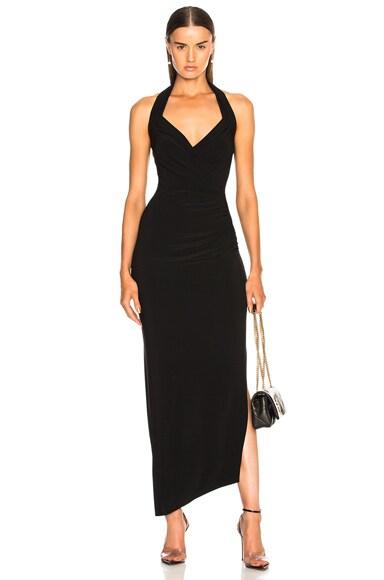 Halter Sweetheart Side Drape Gown