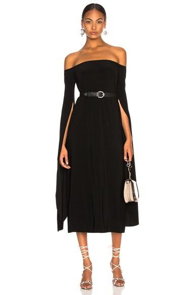 Tulip Sleeve Off The Shoulder Dress