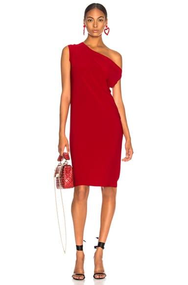 Drop Shoulder Knee Length Dress