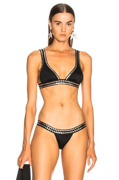 Studded Banded Bikini Top