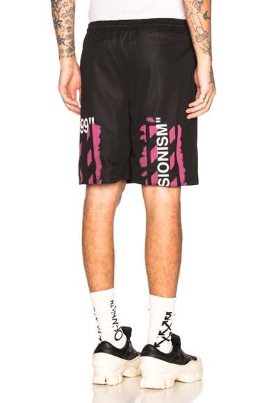 Diagonal Stencil Mesh Shorts