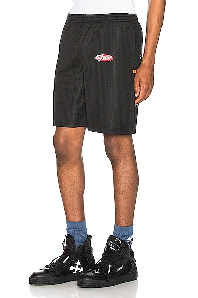 Split Logo Mesh Shorts