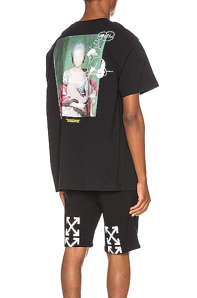 Off-White Mariana De Silva Print Cotton T-Shirt In Black Multi