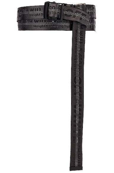 Off-White Classic Industrial Belt In Black Polyamide