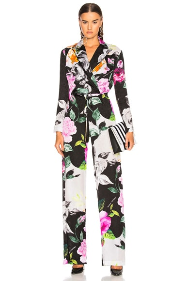 Floral Coulisse Jumpsuit