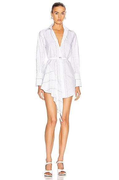 Popeline Asymmetrical Dress