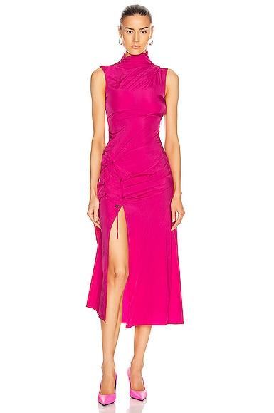 Short Dna Spiral Split Dress