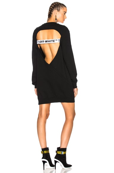 Open Back Sweatshirt Dress