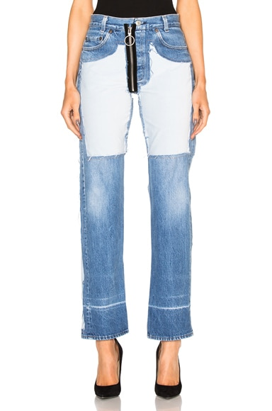 Inlay Velvet Patch Jeans