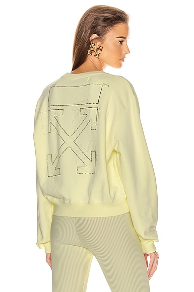 Shifted Crop Crewneck Sweatshirt