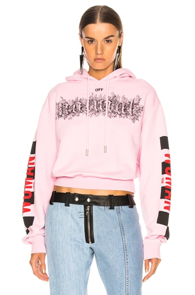 Taxi Cropped Hoodie