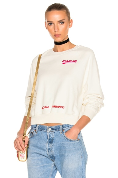 Watercolor Rose Cropped Sweatshirt