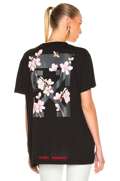 Cherry Flower Oversized Tee