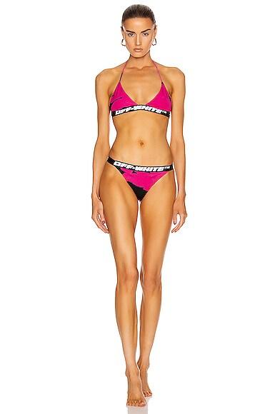 Tiger Dye Triangle Bikini Set