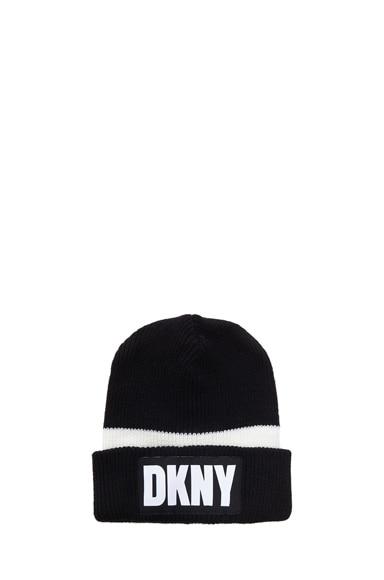 x DKNY Logo Merino Wool Beanie