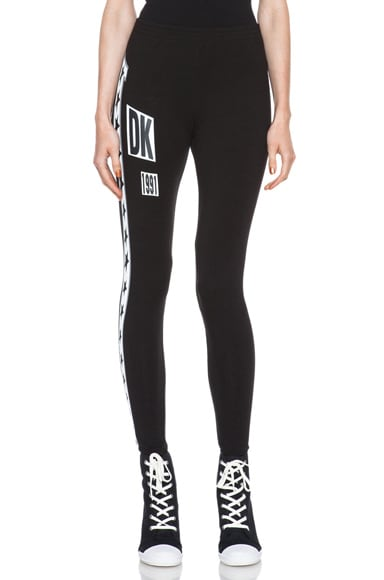 x DKNY Artwork Logo Cotton-Blend Legging