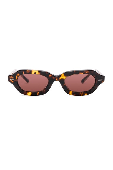 X The Row Oval Sunglasses
