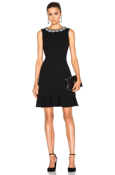 Embellished Collar Cocktail Dress