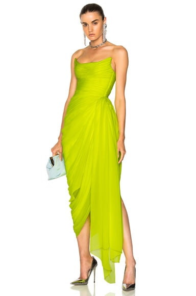 Draped Strapless Gown