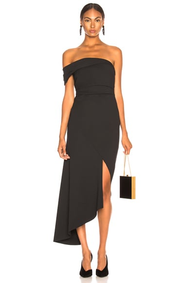 Off Shoulder Asymmetric Hem Dress