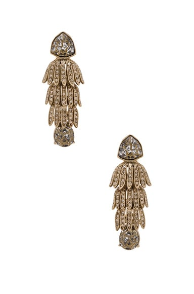 Wisteria Triple Tier Crystal Earrings