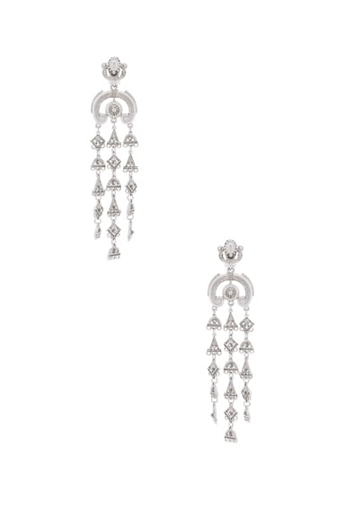 Ornate Charm Chandelier Earring