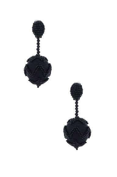 Beaded Chevron Ball Earring