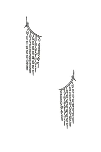 Tendril Crystal Earrings